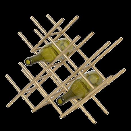 Wijnrek 47*14*40 cm Goudkleurig | 6Y4224 | Clayre & Eef