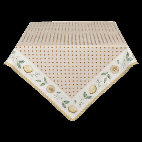 Tafelkleed 100*100 cm Beige | LEL01 | Clayre & Eef