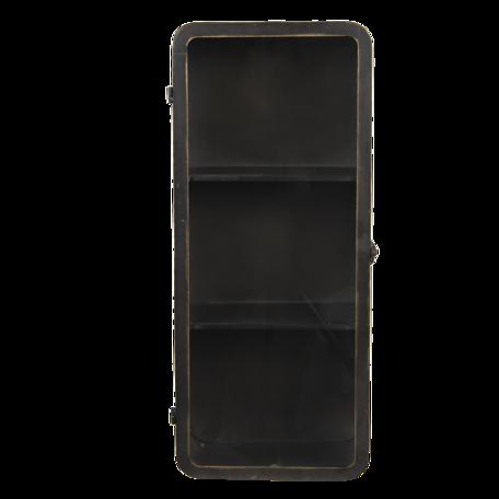 Medicijnkastje 28*14*63 cm Zwart   5Y0776   Clayre & Eef