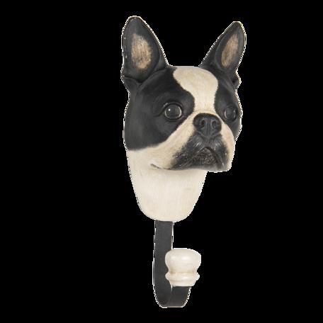 Wandhaak Boston terrier 11*8*18 cm Multi | 64669 | Clayre & Eef