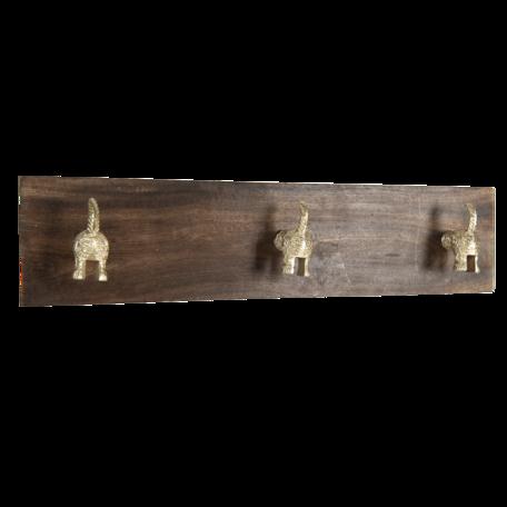 Kapstok 44*8*10 cm Bruin | 6H1960 | Clayre & Eef