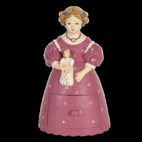 Decoratie vrouw 12*11*20 cm Multi | 6PR3106 | Clayre & Eef