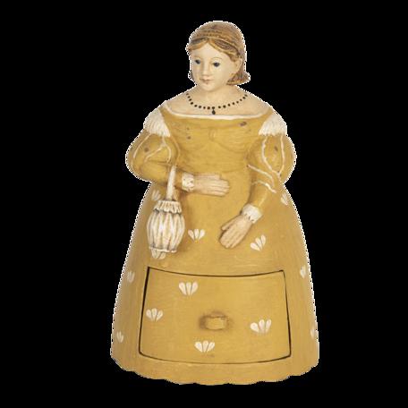 Decoratie vrouw 13*11*20 cm Geel | 6PR3107 | Clayre & Eef