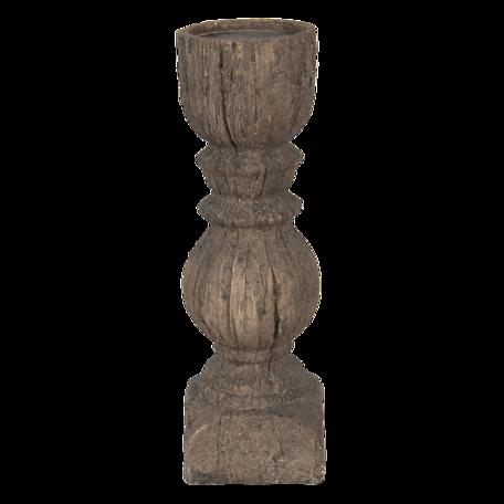 Kandelaar ø 10*32 cm Bruin | 6PR3230L | Clayre & Eef
