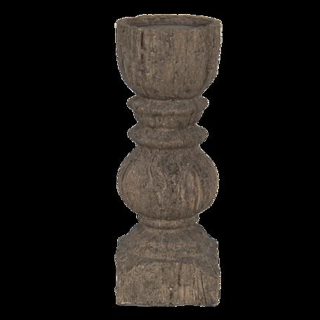 Kandelaar ø 9*25 cm Bruin | 6PR3230S | Clayre & Eef