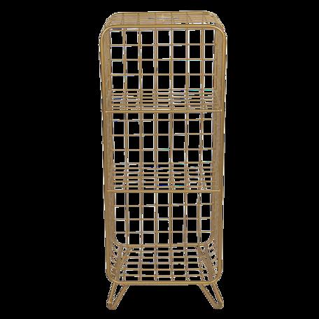 Vakkenkastje 35*30*90 cm Goudkleurig   5Y0803   Clayre & Eef