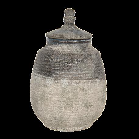 Decoratieve pot ø 18*27 cm Bruin | 6CE1225 | Clayre & Eef