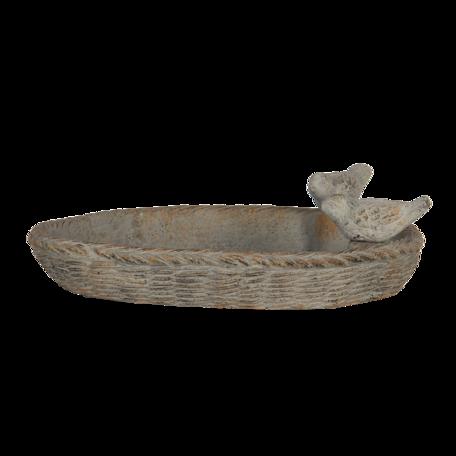 Vogelvoederbak 35*25*10 cm Grijs   6TE0351   Clayre & Eef