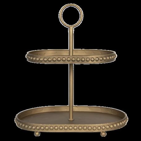 Etagère 47*31*50 cm Koperkleurig | 6Y4423 | Clayre & Eef
