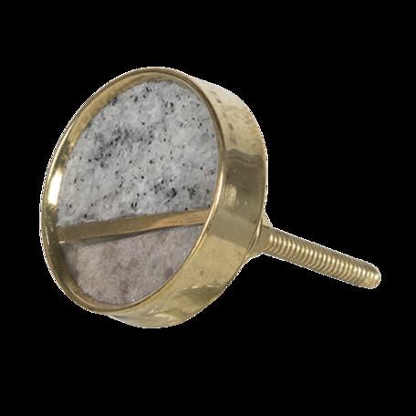 Deurknop ø 4 cm Grijs | 64698 | Clayre & Eef