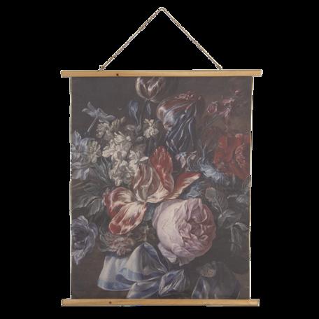 Wandkaart met bloemen 80*2*100 cm Multi | 5WK0034 | Clayre & Eef