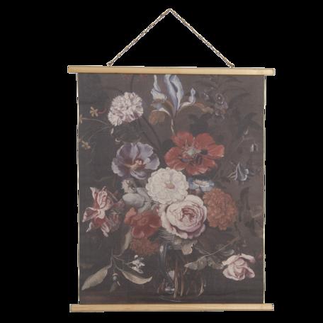 Wandkaart met bloemen 80*2*100 cm Multi | 5WK0035 | Clayre & Eef