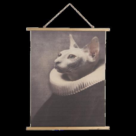 Wandkaart kat 80*2*100 cm Multi | 5WK0036 | Clayre & Eef