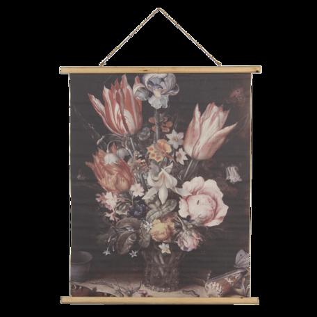 Wandkaart met bloemen 80*2*100 cm Multi | 5WK0038 | Clayre & Eef