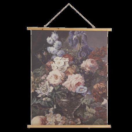 Wandkaart met bloemen 80*2*100 cm Multi | 5WK0039 | Clayre & Eef