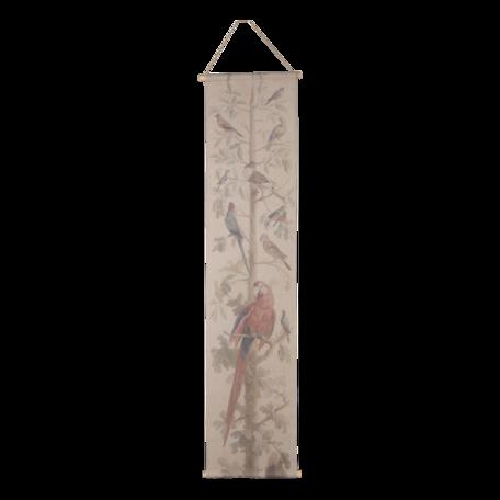 Wandkaart vogels 42*2*166 cm Multi | 6WK0036 | Clayre & Eef