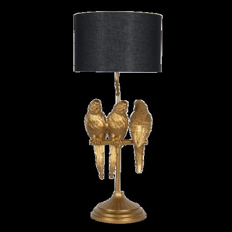 Tafellamp ø 33*79 cm  E27/max 1*60W Goudkleurig   5LMC0006   Clayre & Eef