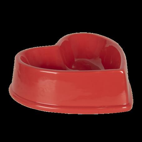 Dieren voerbak 19*19*6 cm Rood | 6CEBO0053 | Clayre & Eef