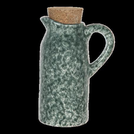 Olie- en azijnstel (set van 2) 8*6*14 cm Groen   6CE1239   Clayre & Eef