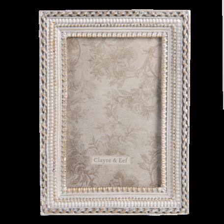 Fotolijst 13*2*19 cm / 10*15 cm Zilverkleurig | 2F0805 | Clayre & Eef