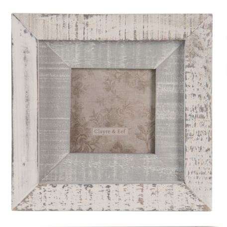 Fotolijst 15*2*15 cm / 7*7 cm Grijs | 2F0816 | Clayre & Eef