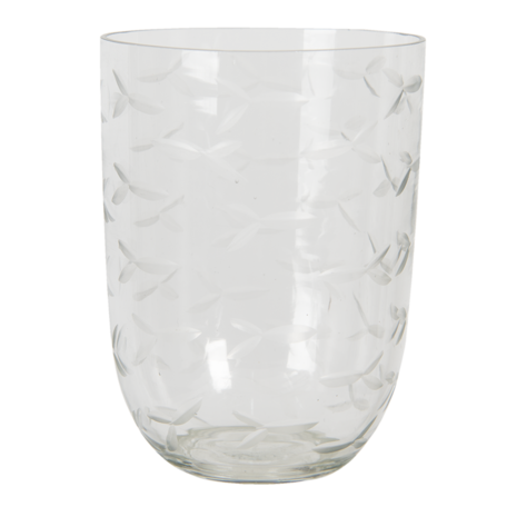 Waxinelichthouder ø 8*11 cm Transparant | 6GL3049 | Clayre & Eef