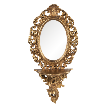 Spiegel 17*9*35 cm Goudkleurig   62S218   Clayre & Eef