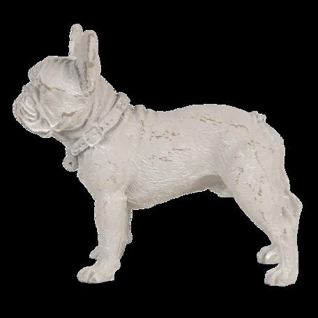 Decoratie hond 14*6*12 cm Grijs   6PR3239   Clayre & Eef
