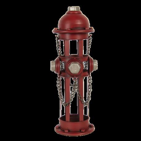 Flessenhouder brandkraan 14*15*41 cm Rood | 6Y4583 | Clayre & Eef