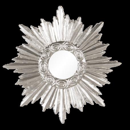 Spiegel 19*2*19 cm Zilverkleurig   62S219   Clayre & Eef