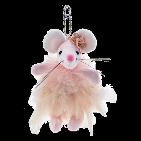 Decoratie knuffel muis  Roze | MLLLTW0006 | Clayre & Eef