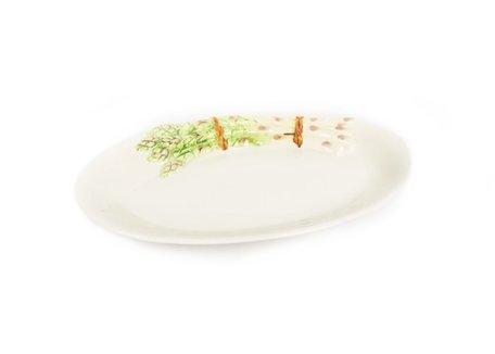 Kleine ovale schaal met asperges 32 x 21 cm | AS07 | Piccobella