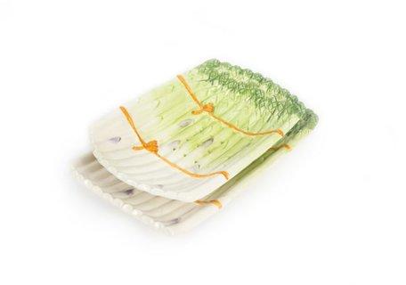 Uitlekschaal asperges groen 34 x 21 cm | AS04gr | Piccobella