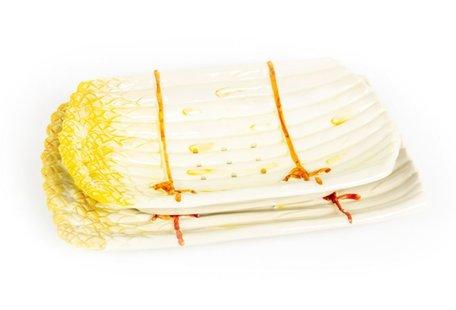 Uitlekschaal asperges geel 34 x 21 cm | AS04geel | Piccobella