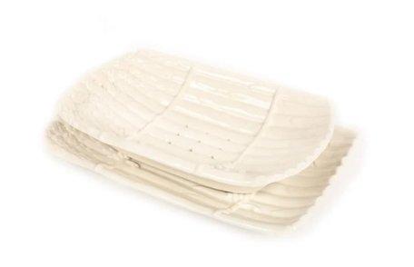 Uitlekschaal asperges wit 34 x 21 cm | AS04WIT | Piccobella