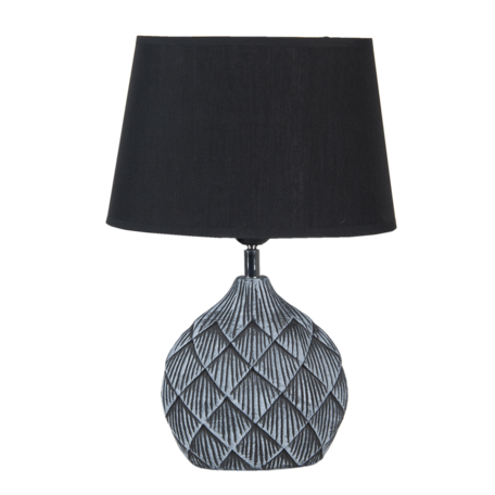 Tafellamp 26*19*38 / E27 Zwart   6LMC0046   Clayre & Eef