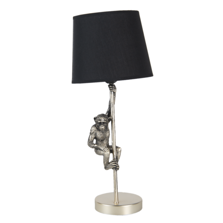 Tafellamp aap ø 20*49 cm E27 Goudkleurig   6LMC0049   Clayre & Eef