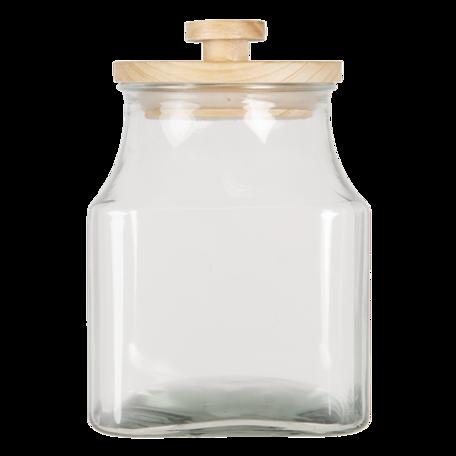 Voorraadpot ø 15*23 cm / 2800 ml Transparant | 6GL3004 | Clayre & Eef