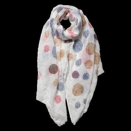 Sjaal 70*180 cm Wit | JZSC0558W | Clayre & Eef