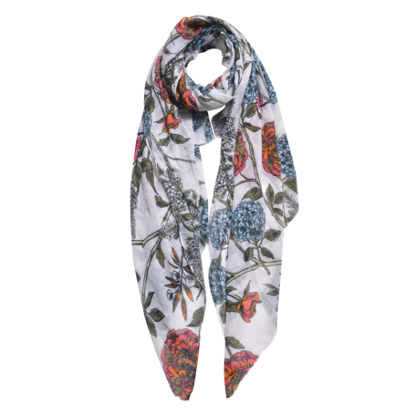 Sjaal 87*180 cm Wit | JZSC0564W | Clayre & Eef