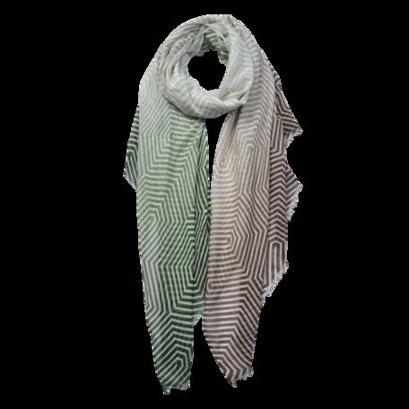 Sjaal 87*180 cm Groen | JZSC0566GR | Clayre & Eef