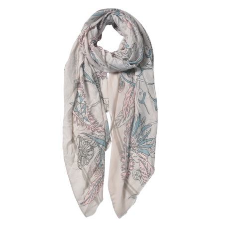 Sjaal 87*180 cm Grijs | JZSC0567G | Clayre & Eef
