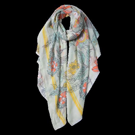 Sjaal 87*180 cm Groen | JZSC0567GR | Clayre & Eef