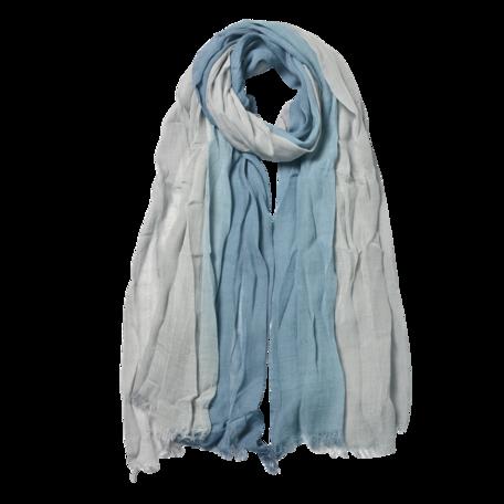 Sjaal 90*190 cm Blauw | JZSC0588BL | Clayre & Eef