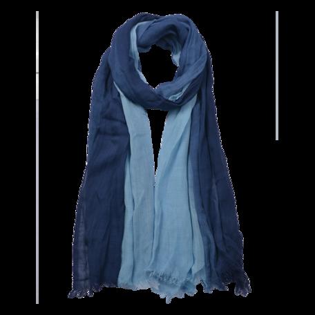 Sjaal 90*190 cm Blauw | JZSC0588DBL | Clayre & Eef