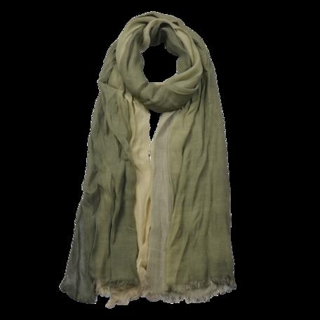 Sjaal 90*190 cm Groen | JZSC0588DGR | Clayre & Eef