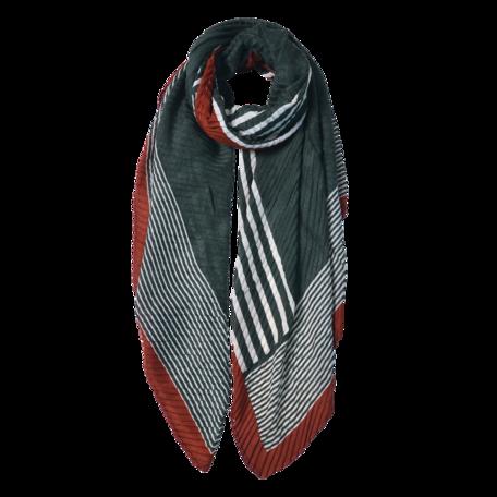 Sjaal 85*180 cm Groen | JZSC0589GR | Clayre & Eef