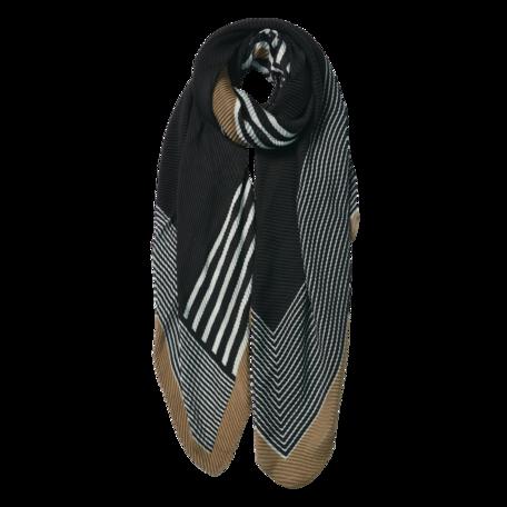 Sjaal 85*180 cm Zwart | JZSC0589Z | Clayre & Eef