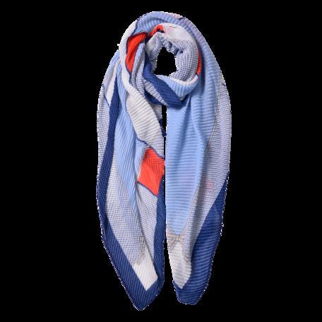 Sjaal 85*180 cm Blauw | JZSC0595BL | Clayre & Eef