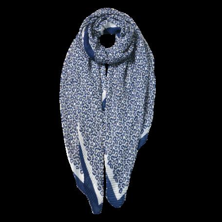 Sjaal 85*180 cm Blauw | JZSC0596BL | Clayre & Eef